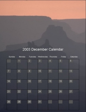 Calendar Maker - EasyCalendarMaker Software! screenshot
