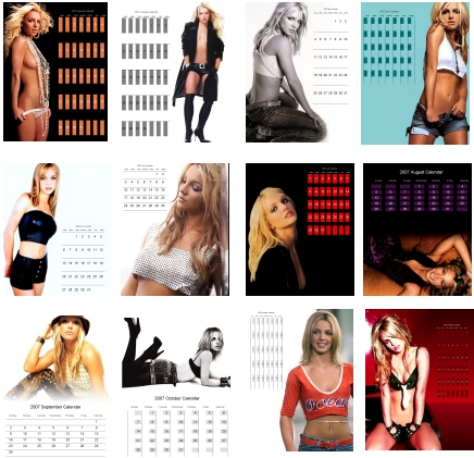 Calendar of Britiney Spears